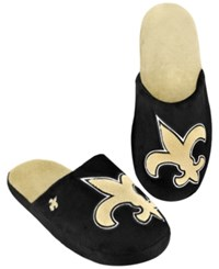 Forever Collectibles Men's New Orleans Saints Big Logo Slippers Black Gold