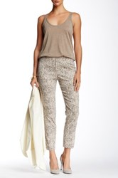 Insight Printed Techno Faux Fly Pant Multi