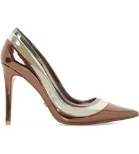 Dune Triple Layer Metallic Court Shoes Multi Metallic