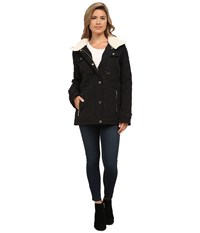 Michael Michael Kors Quilted W Sherpa Black Women's Coat