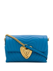 Escada Quilted Shoulder Bag Blue