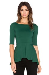 Susana Monaco Low Back Flare Top Green