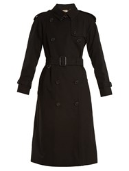 Burberry Westminster Double Breasted Cotton Trench Coat Black