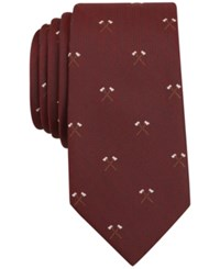 Bar Iii Men's Western Graphic Print Tie Only At Macy's Red