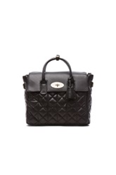 Mulberry Cara Delevigne Quilted Backpack In Black