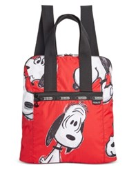 Le Sport Sac Lesportsac Peanuts Collection Everyday Backpack Snoopy Fun Red