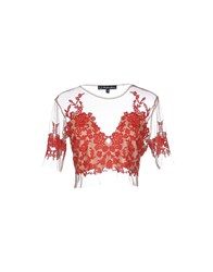 For Love And Lemons Topwear T Shirts Women Red