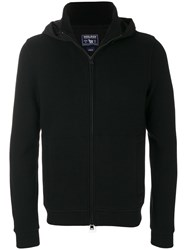 Woolrich Zipped Knit Hoodie Cotton Polyamide Polyester Wool M Black
