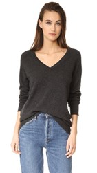 Equipment Asher V Neck Sweater Charcoal Heather Grey