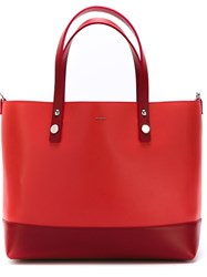 Moncler Colour Block Shopper Tote Red