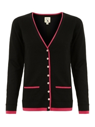Yumi Preppy Cardigan Black