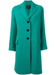 Marc Jacobs Single Breasted Coat Green