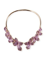 Pasquale Bruni 18K Rose Gold And Amethyst Butterfly Collar Necklace With Diamonds