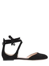 Gianvito Rossi 10Mm Lace Up Suede Sandals