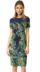 Black Halo Marlowe Sheath Dress Musk Rose Pacific Blue