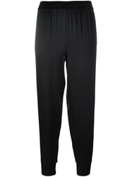 Dkny Elasticated Satin Trousers Black