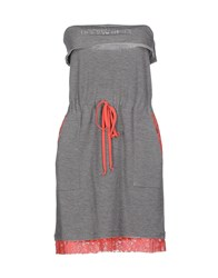 Annarita N. Dresses Short Dresses Women Grey