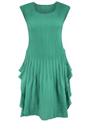 Chesca Double Layer Pleated Sleeveless Dress Jade