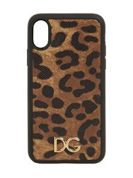 Dolce And Gabbana Leopard Print Leather Iphone Xr Case