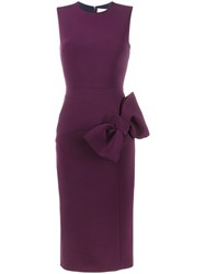Roksanda Ilincic Lauran Bow Embellished Dress Pink Purple