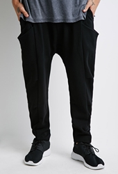 Forever 21 Funnel Pocket Drawstring Sweatpants Black