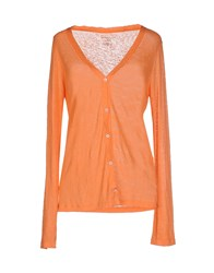 Majestic Knitwear Cardigans Women Orange