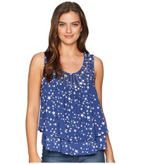 Rock And Roll Cowgirl Tank Top B5 6076 Navy Sleeveless