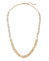 Emily And Ashley Long Chain Necklace W Crystal Beads Gold