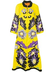 Yuliya Magdych Loves Me Embroidered Dress Yellow