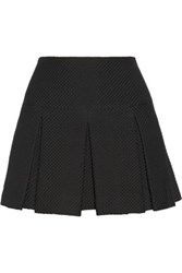 Jill Stuart Kristiana Pleated Matelasse Mini Skirt Black