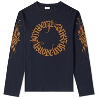 Dries Van Noten Long Sleeve Hawk Tee Blue