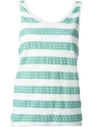 Forte Forte Striped Tank Top Green