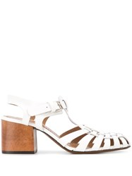Marni 65Mm Crisscross Sandals White
