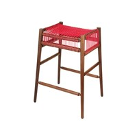 H Furniture Loom Bar Stool Walnut Red