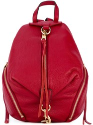 Rebecca Minkoff Dogclip Backpack Women Cotton Leather One Size Red