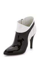 Maison Martin Margiela Leather Booties Black White