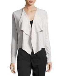 Vince Cashmere Draped Front Cardigan White