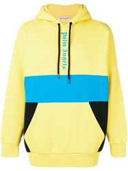 Palm Angels Colour Block Hoodie Yellow