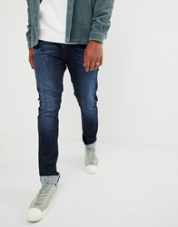 Brooklyn Supply Co. Co Skater Fit Jeans In Washed Indigo Washed Blue