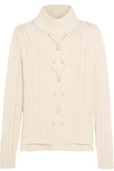 Joie Irissa Wool Blend Turtleneck Sweater Cream