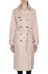 Tahari Women's Lauren Long Hooded Trench Coat