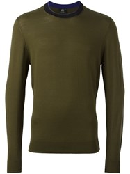 Paul Smith Ps By Crew Neck Pullover Green