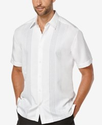 Cubavera Big And Tall Ombre Embroidered Short Sleeve Shirt Bright White