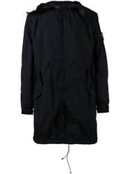 Stone Island Hooded Parka Men Polyamide Polyester Polyurethane Resin M Black