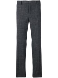 Hugo Boss Checked Straight Trousers Grey