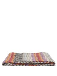 Missoni Home William Zigzag Jacquard Throw Brown Multi
