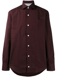 Eleventy Long Sleeve Fitted Shirt 60