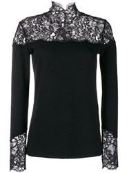 Ermanno Scervino Lace Inlay Sweater Black