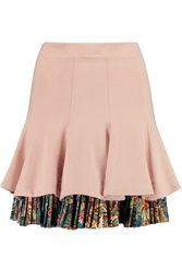 Just Cavalli Layered Stretch Cady Mini Skirt