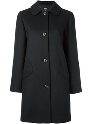 A.P.C. Single Breasted Coat Black